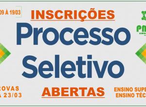 Prorrogada a data para as inscrições no processo seletivo em Dilermando de Aguiar