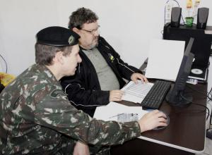 Delegado do Serviço Militar visita Dilermando de Aguiar